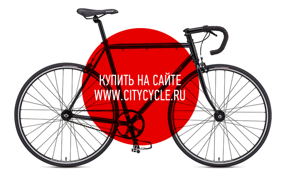 Трековый fixed gear велосипед Fuji Classic Track 2012 черный
